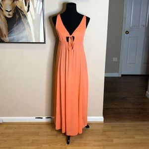 Vintage Coral Nightgown Keyhole Nightgown Sm Med